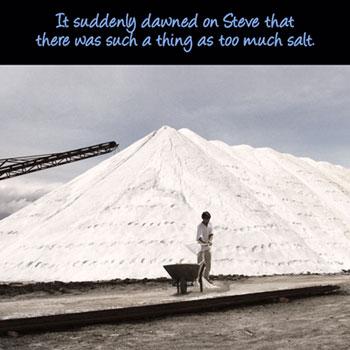 'Too much salt' poster
